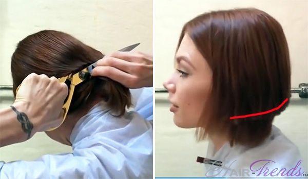 самой себе стричь волосы